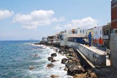 Mandraki coastline on Nisyros island Royalty Free Stock Images