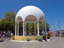 Mandraki hamn Rhodes, Grekland Arkivfoto