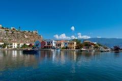 Mandraki harbor at Kastellorizo Royalty Free Stock Photography