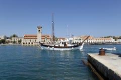 Mandraki harbor Rhodes Stock Images