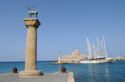 Mandraki Harbour 1 Royalty Free Stock Photography