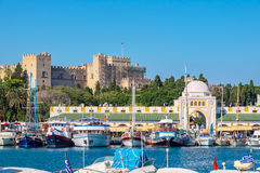 Free Mandraki Harbour. Rhodes, Greece Stock Photos - 87850653