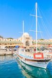 Mandraki Port and New Market. Rhodes Island. Greece Stock Images