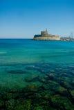 Mandraki portu forteca Obraz Royalty Free
