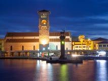 mandraki rhodes гавани Стоковое Изображение RF