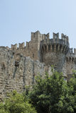 Mandraki, vieille ville, Rhodes Photographie stock