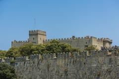 Mandraki, vieille ville, Rhodes Image libre de droits