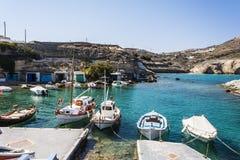 Mandrakia traditional Greek village Royalty Free Stock Photography