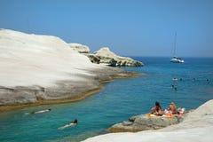 Mandrakia visserijdorp in Milos in Griekenland royalty-vrije stock foto