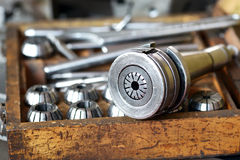 Mandrel for milling machine Royalty Free Stock Image