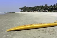 Mandrem Beach Goa. The surf rescue board on Mandrem Beach Goa India Stock Image