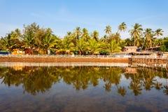 Mandrem beach Goa India. Resort huts on Mandrem beach in north Goa, India Stock Photo