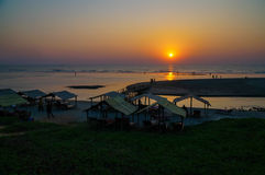 Mandrem beach sunset Royalty Free Stock Photography