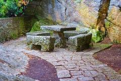 Mandril de pedra em São Marino imagem de stock