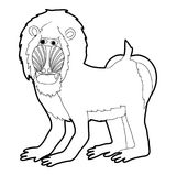 Mandrill icon outline. Mandrill icon in outline style isolated on white vector illustration Stock Photos