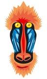 Mandrill monkey head. Icon Stock Photos