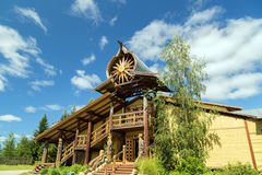 Mandrogi Russian Village attractions in Verkhniye Mandrogi Stock Photography