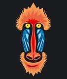 Mandryl małpy głowa Fotografia Royalty Free