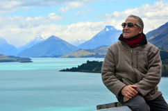 Mandsome mature man travel Royalty Free Stock Image