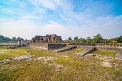 Mandu India, afghan ruins of islam kingdom, mosque monument and muslim tomb. Architectural details. Mandu India, afghan ruins of islam kingdom, mosque monument Royalty Free Stock Photo