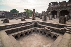 Mandu India, afghan ruins of islam kingdom, mosque monument and muslim tomb. Architectural details. Mandu India, afghan ruins of islam kingdom, mosque monument Stock Image