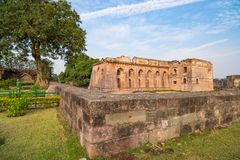 Mandu India, afghan ruins of islam kingdom, mosque monument and muslim tomb. Architectural details. Mandu India, afghan ruins of islam kingdom, mosque monument Royalty Free Stock Images