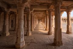 Mandu India, afghan ruins of islam kingdom, mosque monument and muslim tomb, interior details. Mandu India, afghan ruins of islam kingdom, mosque monument and Royalty Free Stock Photography