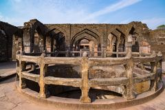Mandu India, afghan ruins of islam kingdom, mosque monument and muslim tomb. Mandu India, afghan ruins of islam kingdom, mosque monument and muslim tomb Stock Photography
