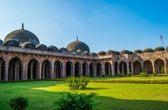 Mandu Jami Mosque. Mandu or Malwa Jami Mosque or Masjid with various small and big domes , arches , doorways stock photography