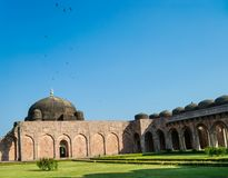 Mandu Jami Mosque. Mandu or Mandav Historic Jami Masjid or Mosque with Flight of Pigeons . This is one of the Iconic Mosque built during the Afghan Dynasty in royalty free stock photography