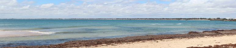 Mandurah的西方澳洲印度洋全景 免版税库存照片