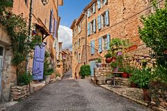 Free Mane, Forcalquier, Provence, France: Ancient Alley In The Old To Stock Image - 128529231