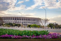 Mane Garrincha Stadium - Brasília, Distrito federal, Brasil imagem de stock