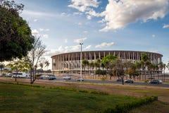 Mane Garrincha Stadium - Brasilia, federala Distrito, Brasilien arkivfoto