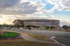 Mane Garrincha Stadium - Brasilia, federala Distrito, Brasilien royaltyfria foton