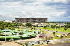 Mane Garrincha Stadium i Brasilia, huvudstad av Brasilien Arkivbild