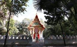 Manee Kwan柴寺庙的主要大厅在Saraburi,泰国 库存图片