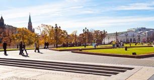 Manege广场看法在莫斯科在秋天 库存图片
