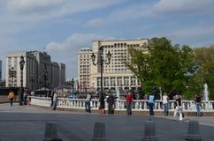 manege莫斯科俄国广场 免版税库存照片