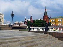 Manege fyrkant och MoskvaKreml Royaltyfria Foton
