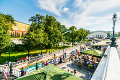 Manege square and Alexander garden Royalty Free Stock Image