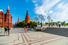 Manege Square And Moscow Kremlin Royalty Free Stock Photography