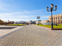 Manege Square in Moscow in autumn day Royalty Free Stock Images