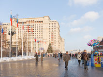 Manege Square in Moscow Christmas Stock Image
