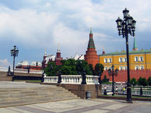 Manege Square and Moscow Kremlin. Royalty Free Stock Photos