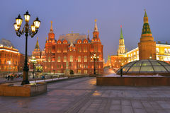 Manege square in Moscow, Russia Royalty Free Stock Image