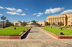 Manege square in Moscow Stock Images