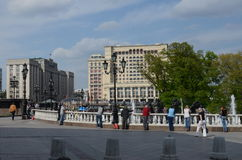 Manege Square, Moscow, Russia Royalty Free Stock Photo