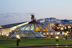 Manege Square at night, Moscow, Russia Stock Images