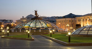 Manege Square at night, Moscow, Russia Stock Photography